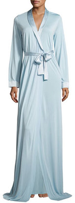 La Perla Airy Blooms Long Robe, Light Blue $350 thestylecure.com