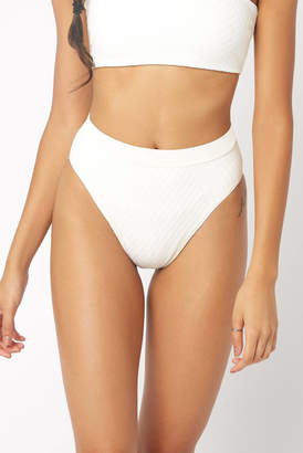 L-Space Frenchi Crossroads Cream High Waisted Bikini Bottom