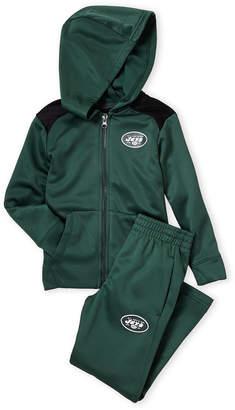 Majestic Boys 4-7) Two-Piece New York Jets Fleece Zip Hoodie & Pant Set