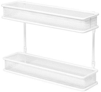 Seville Classics 2 Tier Countertop and Wall Mount Multipurpose Spice Rack Organizer