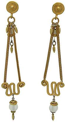One Kings Lane Vintage Etruscan-Style Chandelier Earrings