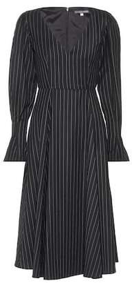 ALEXACHUNG Pinstripe wool-blend dress
