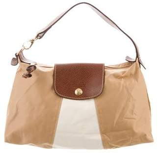 Longchamp Leather-Trimmed Handle Bag