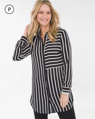 Chico's Chicos Petite Directional Striped Tunic
