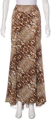 Just Cavalli Printed Chiffon Maxi Skirt
