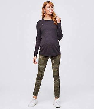 2cce0f55e0 at LOFT · LOFT Maternity Camo Leggings in Five Pocket