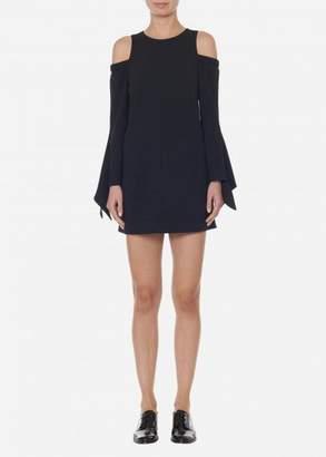 Tibi Structured Crepe Cut Out Shoulder Dress