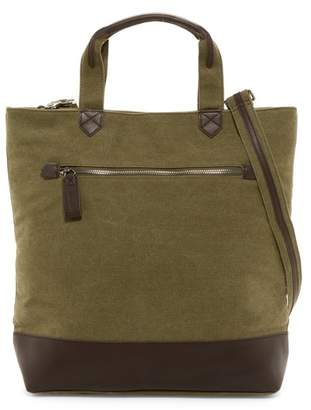 Hunter Brouk & Co Excursion Green Canvas & Vegan Leather Tote