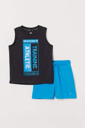 H&M Vest top and sports shorts