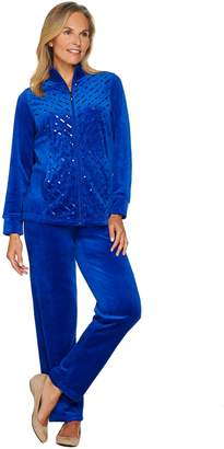 Factory Quacker Velour Sequin Jacket and Pant Set