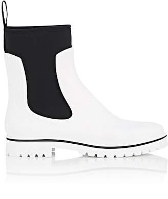 Barneys New York Women's Rubber & Neoprene Ankle Boots - White