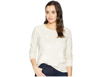 U.S. Polo Assn. Long Sleeve French Terry Floral Embroidered Crew Neck Pullover Women's Clothing
