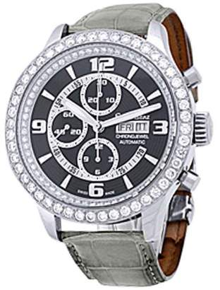 "Ernst Benz Chrono-Jewel"" Chronograph Stainless Steel Mens Strap Watch"