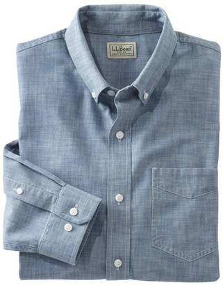 L.L. Bean L.L.Bean Men's Easy-Care Chambray Shirt, Traditional Fit
