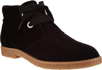 Isaac Mizrahi Live! Suede Chukka Boots with Grosgrain Laces