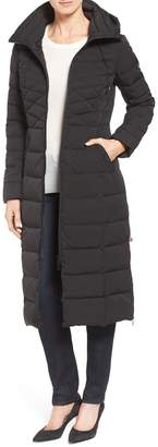 Bernardo Quilted Long Coat with Down & PrimaLoft(R) Fill