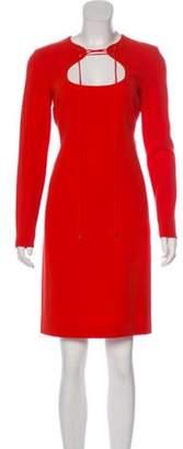 Emilio Pucci Wool Bodycon Dress w/ Tags Orange Wool Bodycon Dress w/ Tags