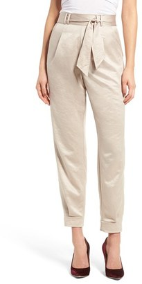 Women's Leith Tie Waist Satin Pants $65 thestylecure.com