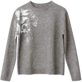La Redoute Collections Shimmering Jumper with Floral Print