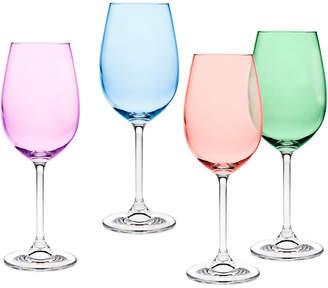 Godinger Multi Color Set Of 4 Goblets