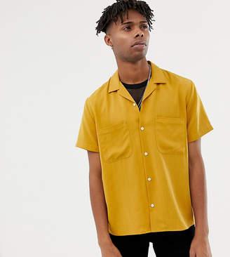 Heart & Dagger viscose revere shirt in mustard
