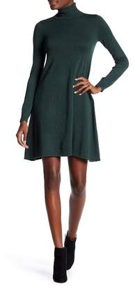 Max Studio Turtleneck Long Sleeve Sweater Dress