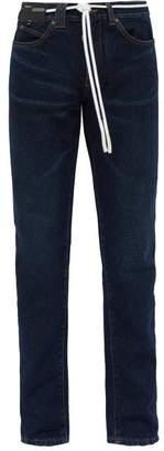 Off-White Off White Side Stripe Straight Leg Jeans - Mens - Indigo