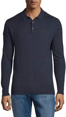 Superdry Men's Orange Label Cotton Cashmere Polo