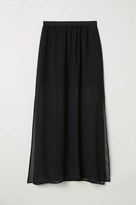 H&M Long Skirt - Black - Women