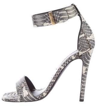 Celine Snakeskin Ankle Straps