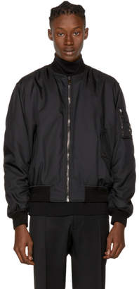 Versace Black Nylon Bomber Jacket