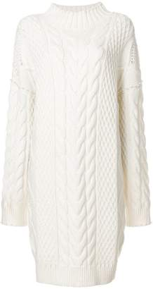 Karl Lagerfeld embellished cable knit dress