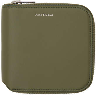 Acne Studios Green Small Csarite Wallet