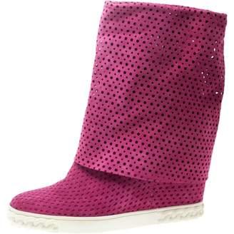 Casadei Pink Suede Boots