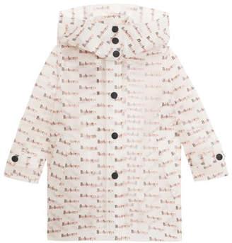 Burberry Penelope Clear Logo-Print Raincoat, Size 4-14