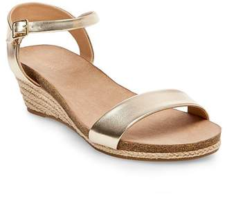Merona Women's Eve Wide Width Footbed Quarter Strap Wedge Sandals $24.99 thestylecure.com
