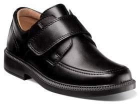 Florsheim Kid's Berwyn Leather Grip-Tape Shoes - Black - Size 5 (Child)