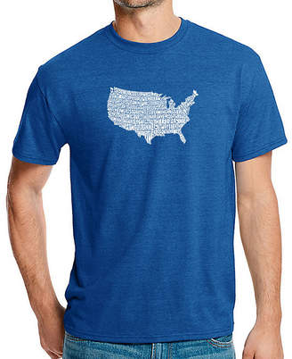 LOS ANGELES POP ART Los Angeles Pop Art Men's Premium Blend Word Art T-shirt - The Star Spangled Banner