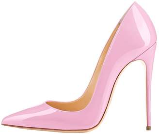 Lovirs Womens Pointed Toe High Heel Slip On Stiletto Pumps Wedding Party Basic Shoes