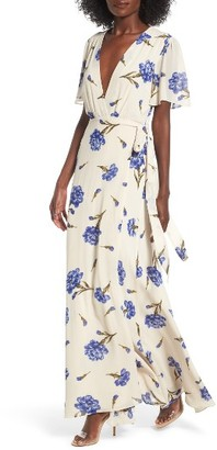 Women's Privacy Please Plaza Wrap Maxi Dress $238 thestylecure.com