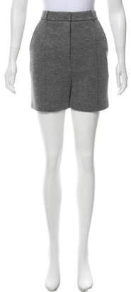 Alexander Wang Leather-Trimmed Mélange Shorts w/ Tags
