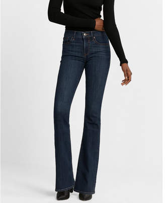Express mid rise stretch bootcut jeans