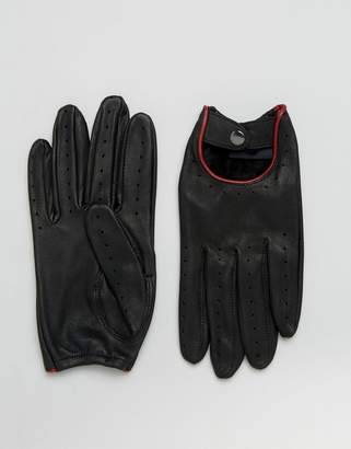 Barneys Driving Glove in Black