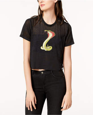 Hudson Cropped Graphic T-Shirt