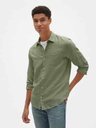 Gap Linen-Cotton Shirt in Standard Fit