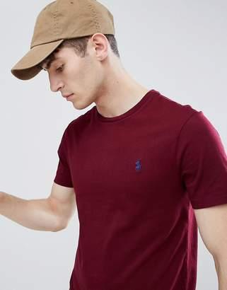 Polo Ralph Lauren Player Logo T-Shirt In Burgundy