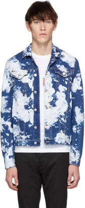DSQUARED2 Blue Denim Bleach Classic Jacket