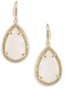 ABS by Allen Schwartz Anytime Anywhere Crystal Teardrop Earrings