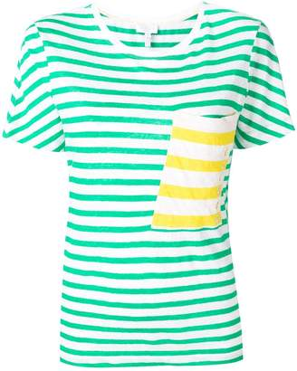 Escada Sport chest pocket striped T-shirt