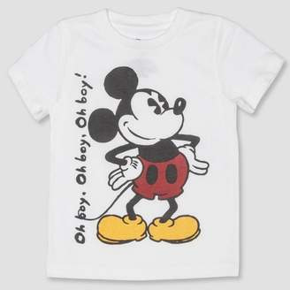 4628a741ede4 Mickey Mouse Toddler Boys' Mickey Mouse Short Sleeve T-Shirt - White